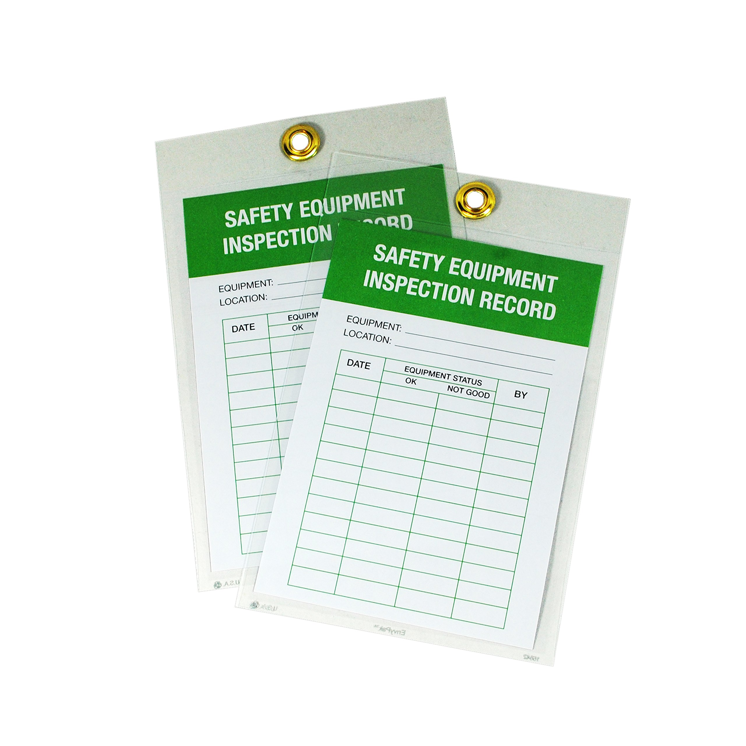 EnvyPak Clear Display Pocket Tag Holders (Job Ticket and Shop Order Holders) - 5.06'' x 7.09'' - Box of 50
