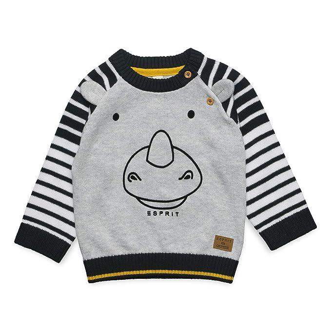 a063188081 ESPRIT KIDS Baby-Jungen Sweater Pullover, Silber (Heather Silver 223),  Herstellergröße