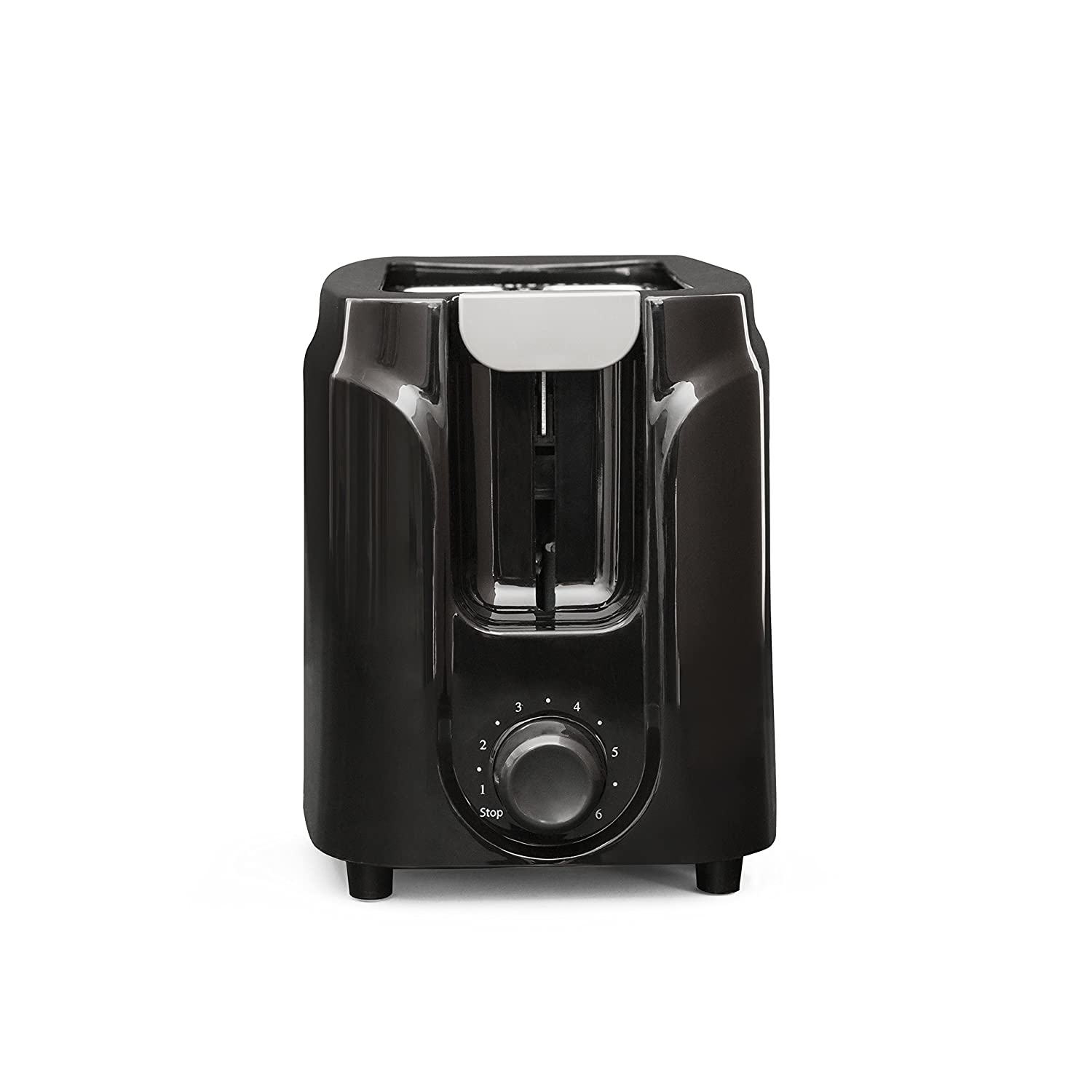 Mainstays 2-Slice Toaster, Black, Auto-centering guides