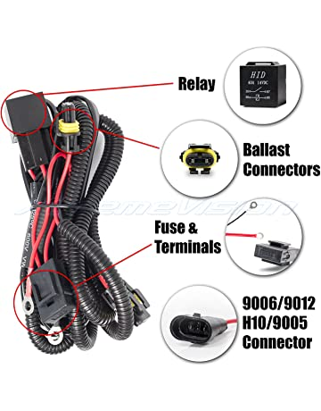 XtremeVision 9006/9012 / H10 / 9005 HID Battery Wiring Relay Harness 12V 40 AMP