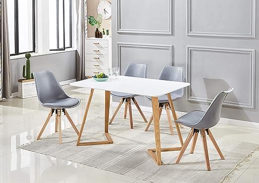 P&N Homewares - Mesa de Comedor Dallas con 4 sillas - Conjunto de ...