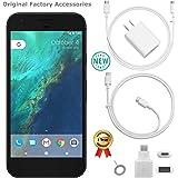 Google Pixel 1st Gen G-2PW4100 32GB Smartphone (Unlocked, Quite Black) GSM + CDMA / 4G LTE Capable + 1 Year Wty Bundle…