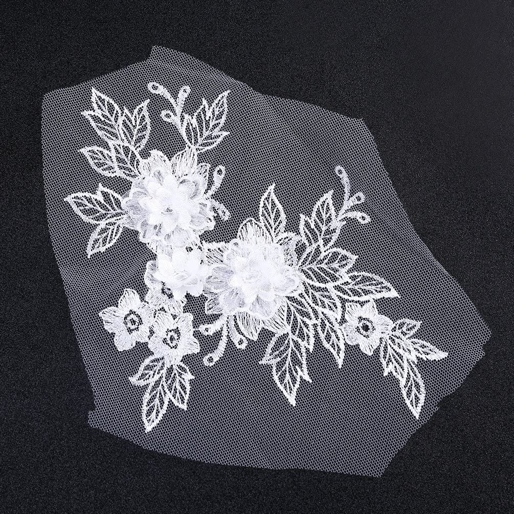Kesheng Appliqu/é /à Coudre Fleur 3D Dentelle DIY Couture Accessoire rose