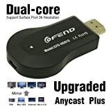 [Upgraded Version] Wireless HDMI Screen Mirror dongle, CE ROSH Certificated Mini WiFi Display TV Dongle Receiver 1080P Airmirror DLNA Airplay Miracast Easy Sharing Wireless Full HD TV Stick For HDTV Smart Phones Notebook Tablet PC to HDTV (AnyCast Plus)