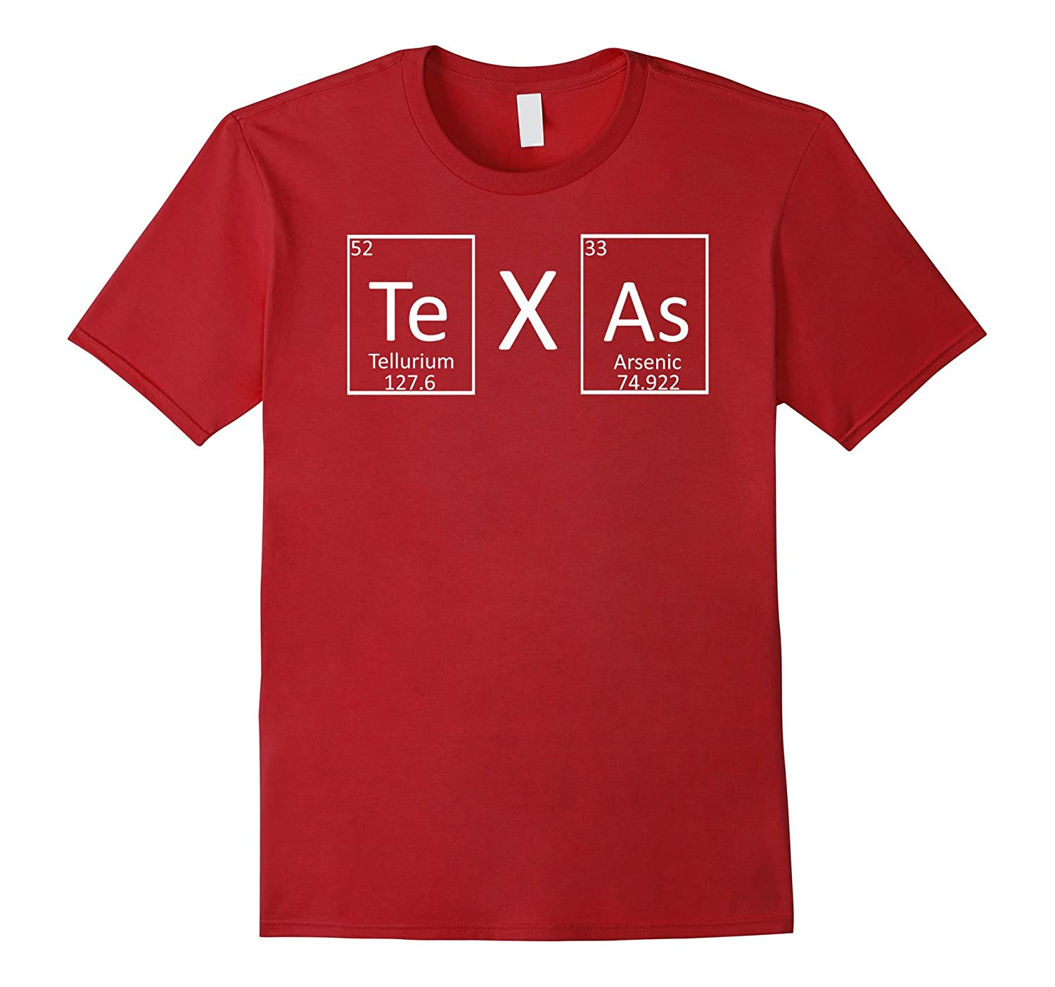State Of Texas Periodic Table Of Elements Chemistry T Shirt Anz