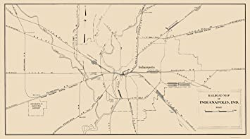 Amazon.com: MAPS OF THE PAST Indianapolis Indiana Railroad ... on indiana gas line maps, indiana breweries list, indiana industrial map, wayne county michigan zip code map, central of georgia map, indiana railroads 1950s, indiana utilities map, us 40 indiana map, monon indiana map, norfolk & western map, big indiana state map, cleveland rail map, indiana electrical lines, indiana ohio railway company, indiana truck map, indiana outline vector, indiana trains, minnesota commercial railway map, big pine creek indiana map, indiana interurban,