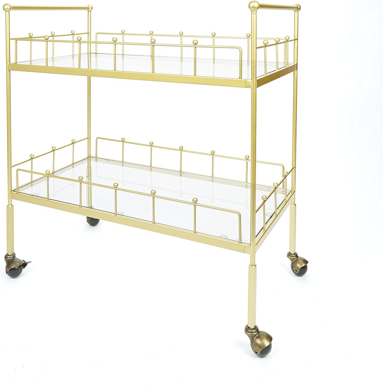 Silverwood FS1134B-COM Fitz 2-Tier Rectangular Serving Cart 2, 16
