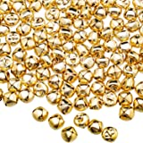 Jingle Christmas Bells, 300 Pieces Craft Bells, DIY Bells for Wreath, Holiday Home and Christmas Decoration (Gold, 0.5…