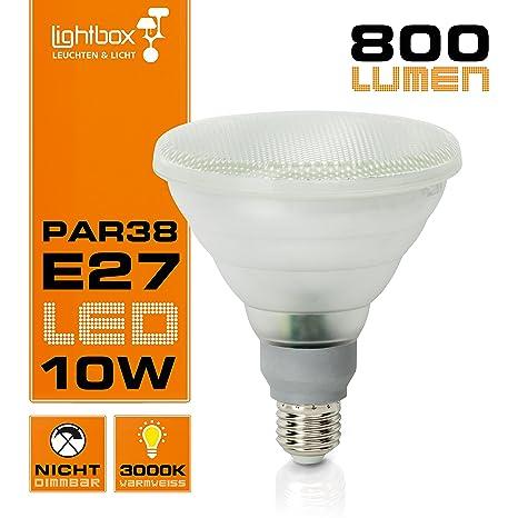 E27 SMD reflector LED 10 W PAR38/bombilla, 650 lumens, 3000 K luz