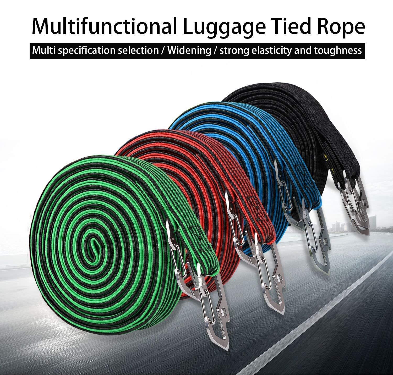 gr/ün 2 und 4 Meter f/ür Fahrrad ASEOK Elastisches Gep/äckseil elastisch elastisches Bungee-Seil Elektroauto universell strapazierf/ähig