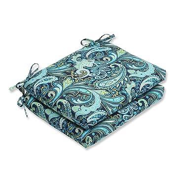 Amazon.com: Conjunto de 2 cojines Sogno Paisley Azul, Verde ...