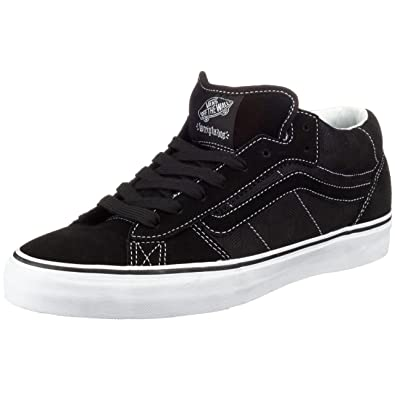 b22da22f819 Image Unavailable. Image not available for. Color  Vans Men s La Cripta Dos  Mid Skate Shoe Size 7.5 Black White