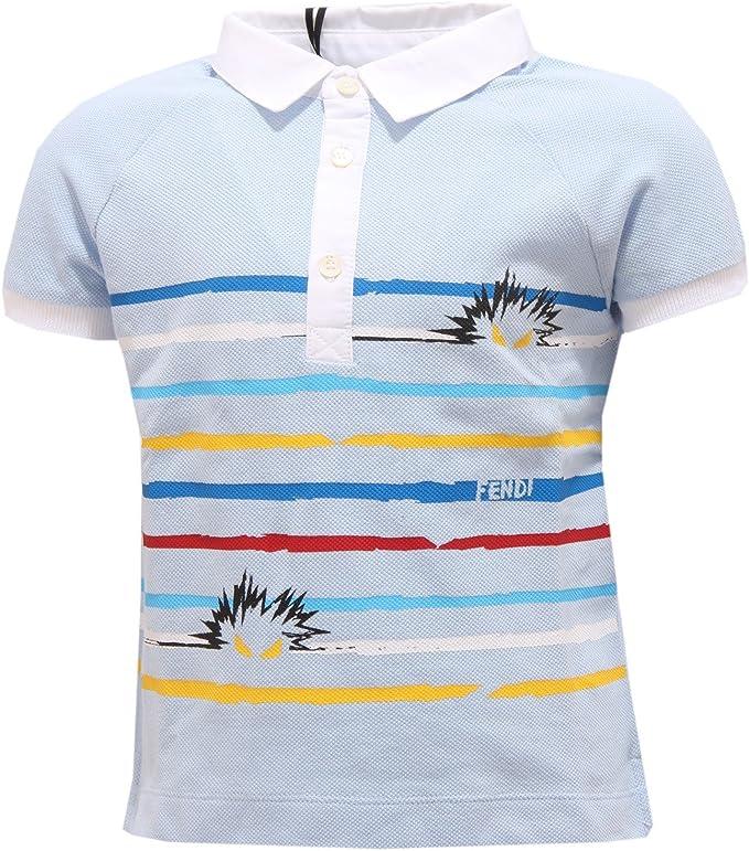 Fendi 0292S Polo Bimbo Celeste Maglia t-Shirt Polo Kid [2 Years ...