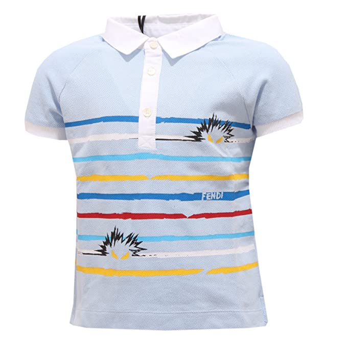 Fendi 0292S Polo Bimbo Celeste Maglia t-Shirt Polo Kid [2 Years ...