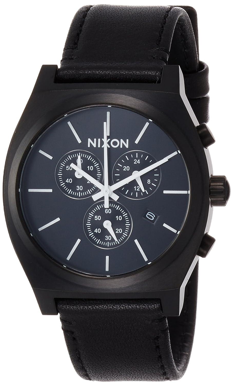 [ニクソン]NIXON TIME TELLER CHRONO LE: ALL BLACK/WHITE NA1164756-00 【正規輸入品】 B01NAYKBDL
