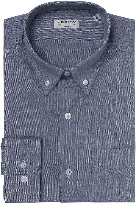 ARROW Camisa Regular Fit Chambray Cuello Botón: Amazon.es ...