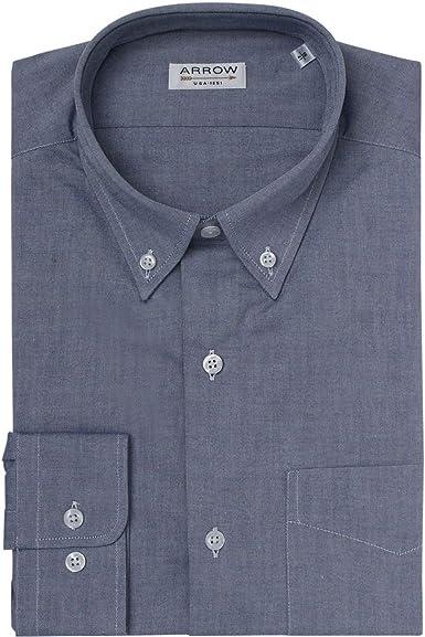 ARROW Camisa Regular Fit Chambray Cuello Botón: Amazon.es: Ropa y accesorios