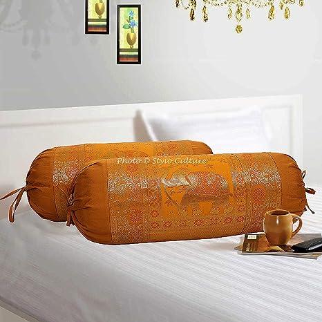 Amazon.com: Stylo Culture - Fundas de almohada cilíndricas ...