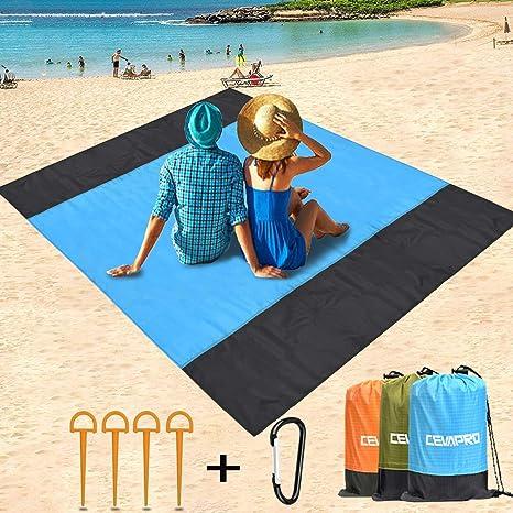 Yobenki Manta de Playa, Impermeable, a Prueba de Arena ...