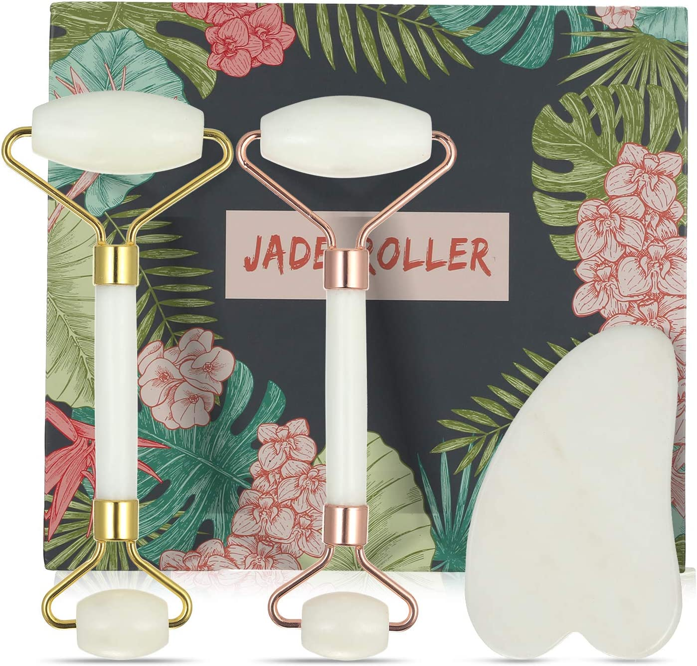 Anself Jade Roller Gua Sha Scraper Set 100% Natural Jade for  Face&Neck&Eye&Body Massager Anti-aging Skin Care Tools Solution Puffy Eyes  Massager: Amazon.co.uk: Beauty