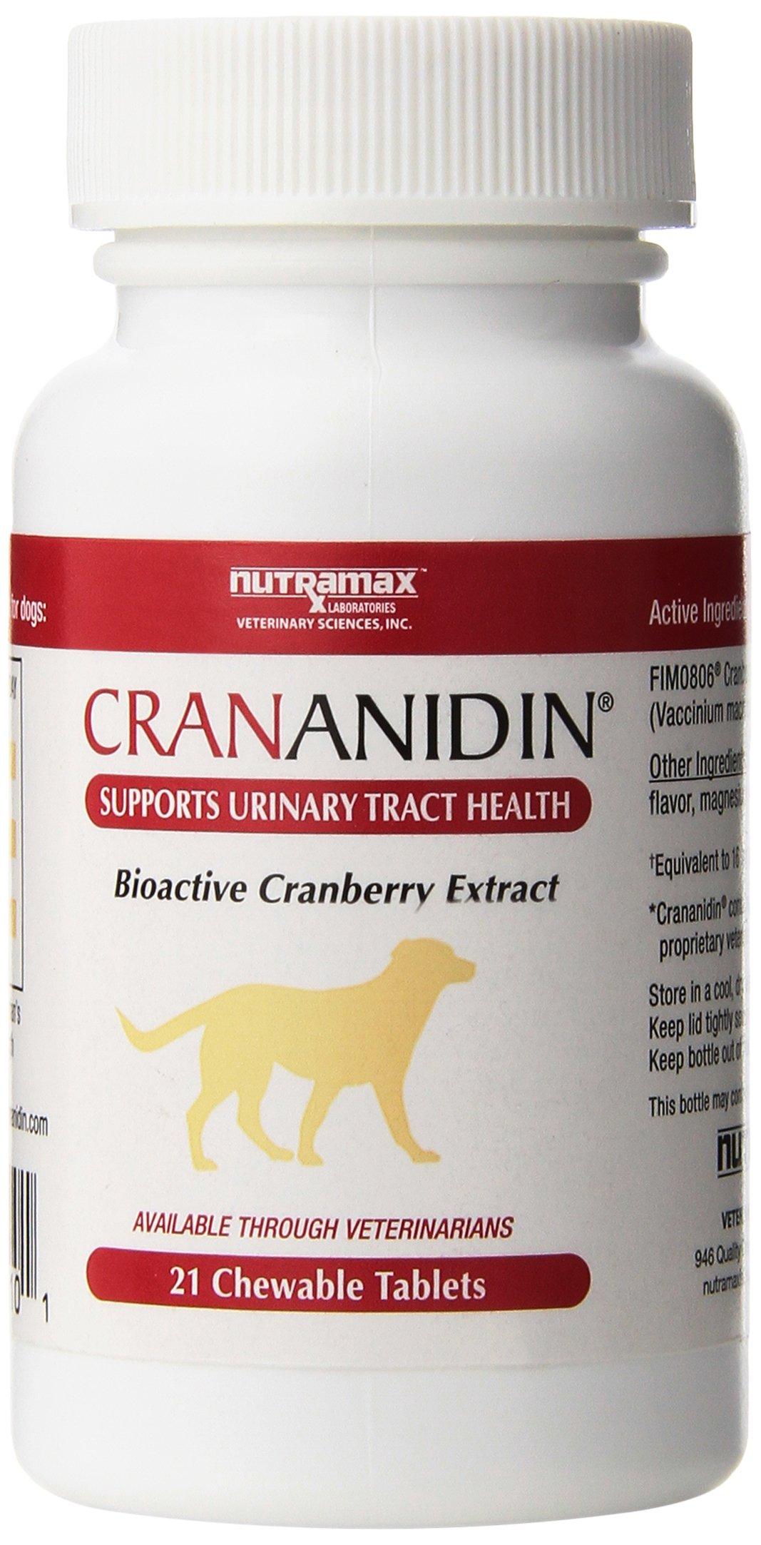 Nutramax Crananidin Pet Supplement, 21 Count
