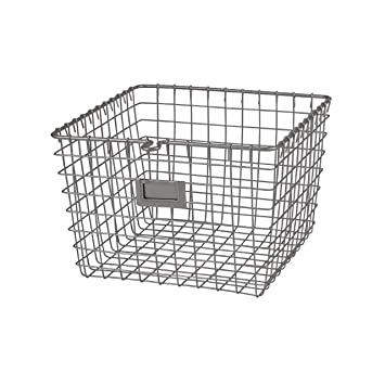Superior Spectrum Diversified Wire Storage Basket, Medium, Satin Nickel