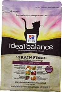Hill'S Ideal Balance Grain Free Natural Chicken And Potato Recipe Adult Cat Dry Food Bag, 2-Pound
