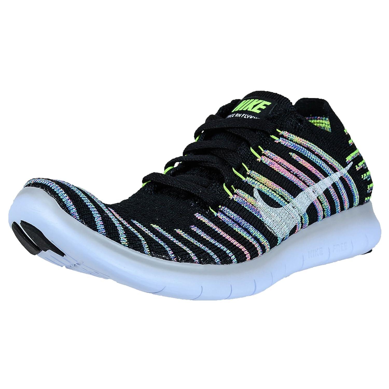 NIKE Women's Free RN Flyknit 2017 Running Shoe B01LYHZPA4 8.5 B(M) US Black/White-Volt-Blue Lagoon