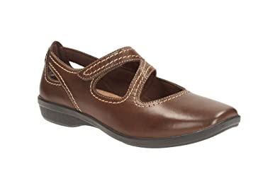 Clarks Womens Casual Clarks Haydn Pond Leather Shoes In Brown