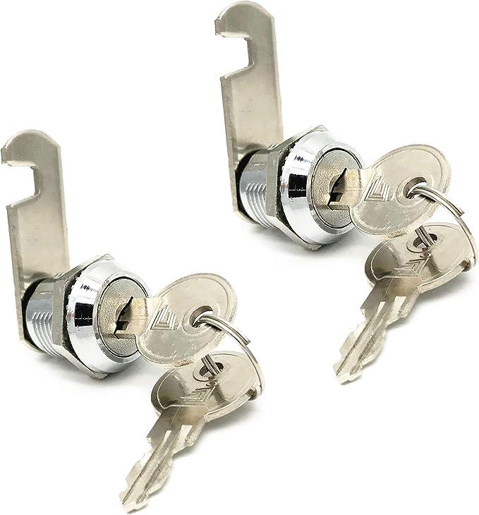 Cam Lock w// 2 Keys For Office Furniture Cabinet Cupboard Door Drawer Mailbox