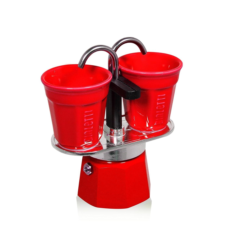 Bialetti Set Mini Express with 2 Espresso Cups, Orange 6191