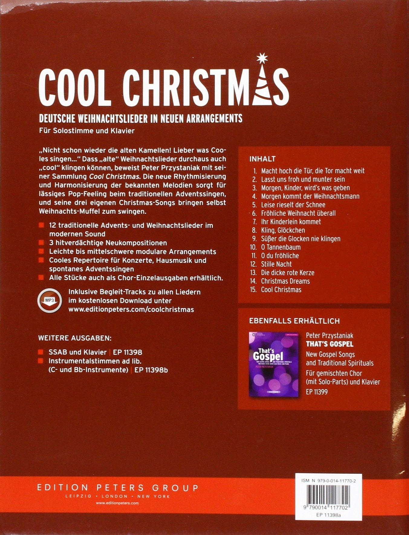 Coole Weihnachtslieder.Cool Christmas Deutsche Weihnachtslieder In Neuen Arrangements Für