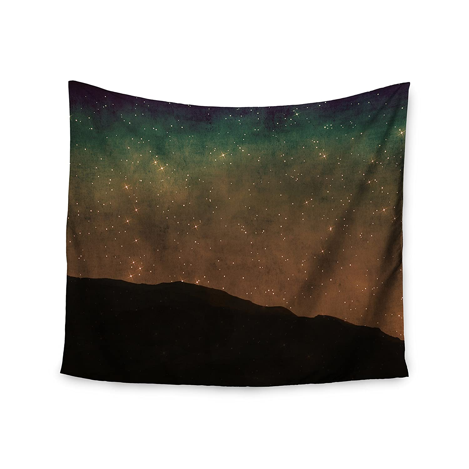 51 X 60 Kess InHouse Sylvia Coomes Star Light Teal Brown Wall Tapestry