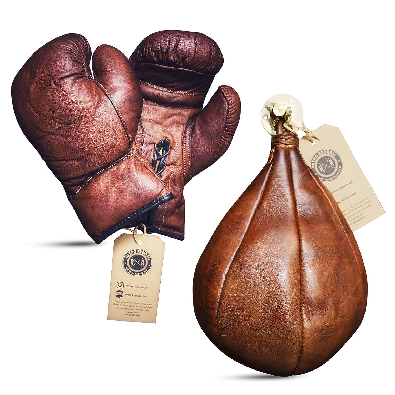 Color marr/ón Bolsa de Boxeo Piel, 340 g Retro Reborn