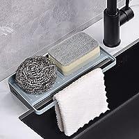 Yohom Kitchen Sink Tray Sponge Holder Organizer Draining Mat for Soap Dispenser Detergent Dishcloth Scrubbers…