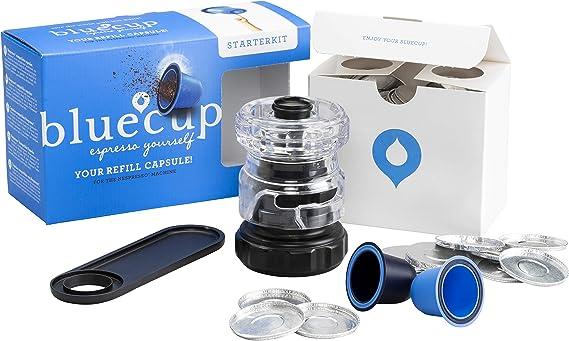 Bluecup - Reutilizable Recargable para Cafetera Nespresso ...