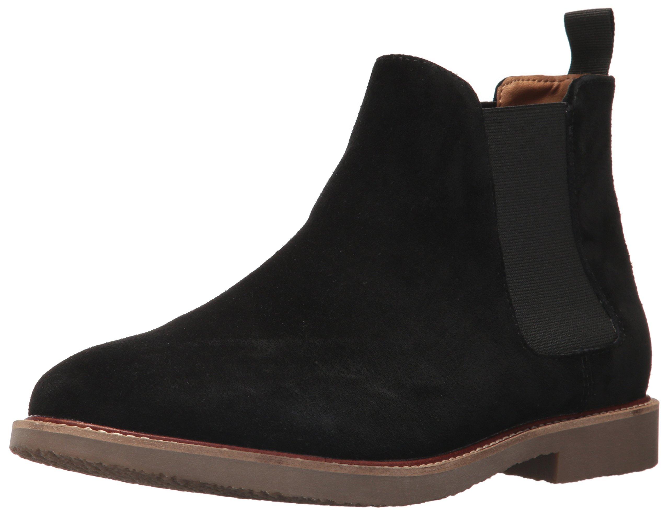 Steve Madden Men's Highline Chelsea Boot, Black Suede, 10 US/US Size Conversion M US