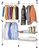 Amazon Com Sobuy Garment Rack Freestanding Closet