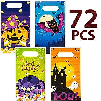 Amazon.com: JOYIN 72 bolsas de truco o regalo de Halloween ...