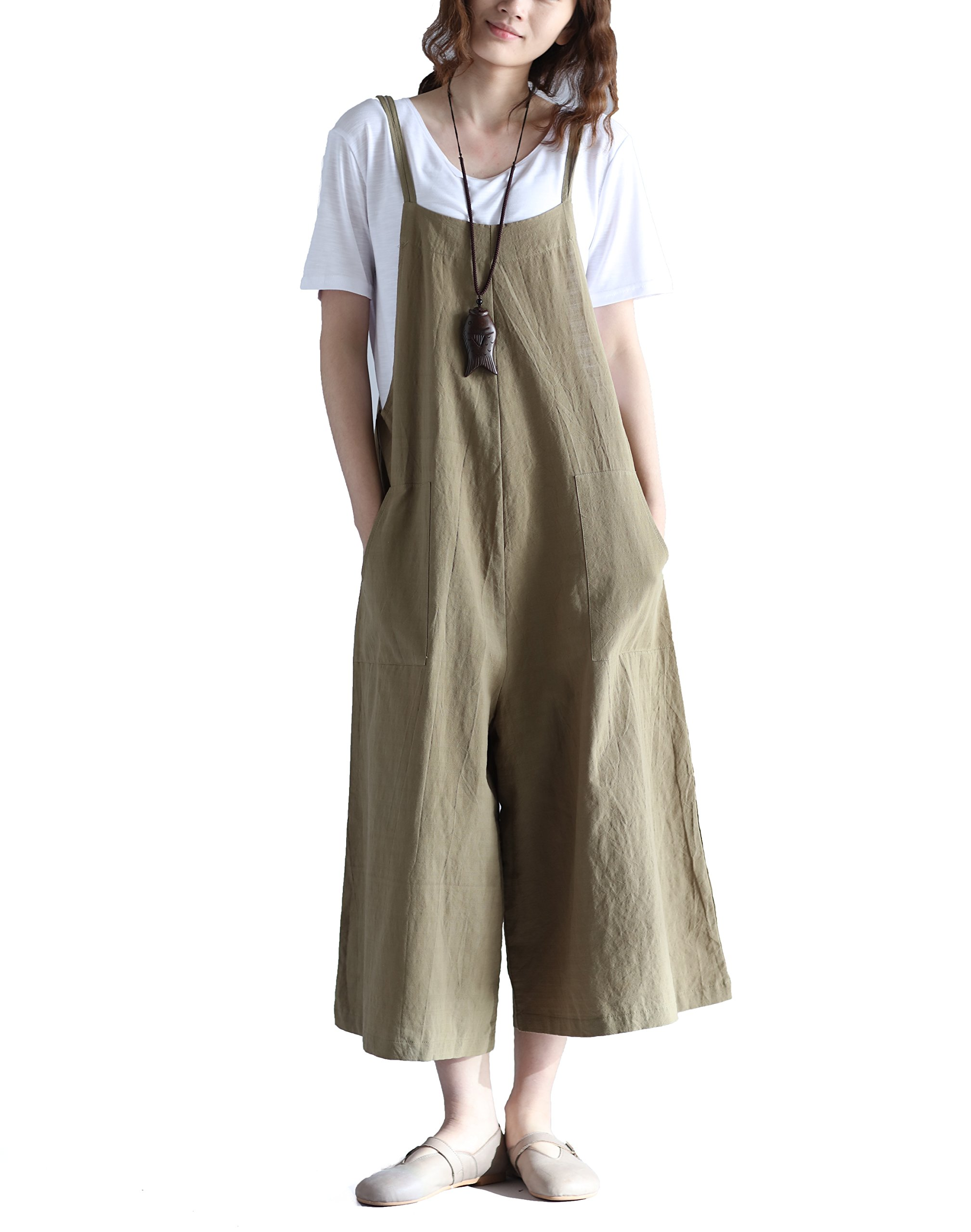 2e29ec19c81 Hulaha Womens Linen Loose Fit Overalls Jumpers product image