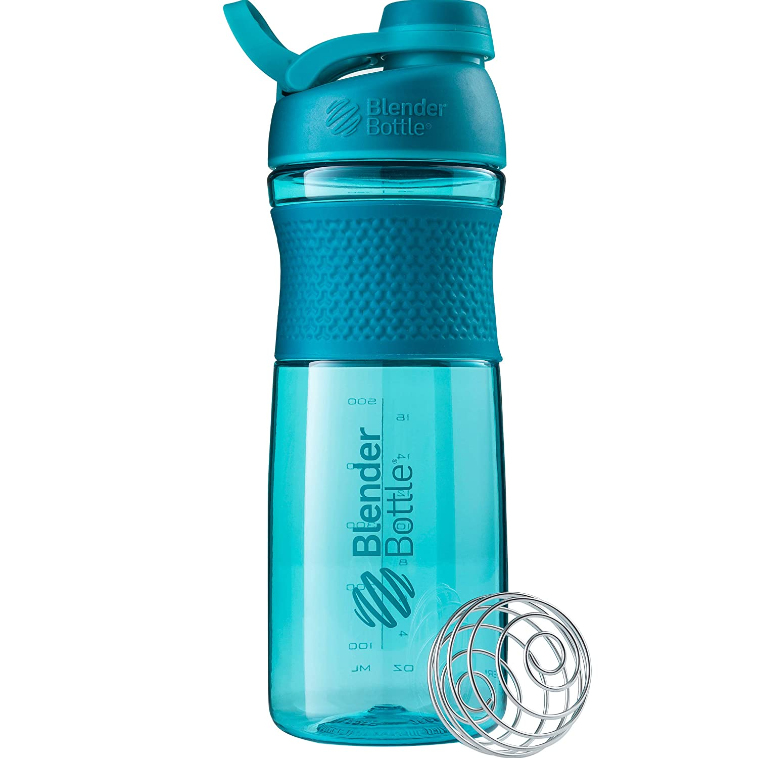BlenderBottle SportMixer Twist Cap Tritan Grip Shaker Bottle, 28-Ounce, Teal