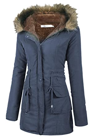 manteau hiver femme col fourrure vestes la mode 2018. Black Bedroom Furniture Sets. Home Design Ideas