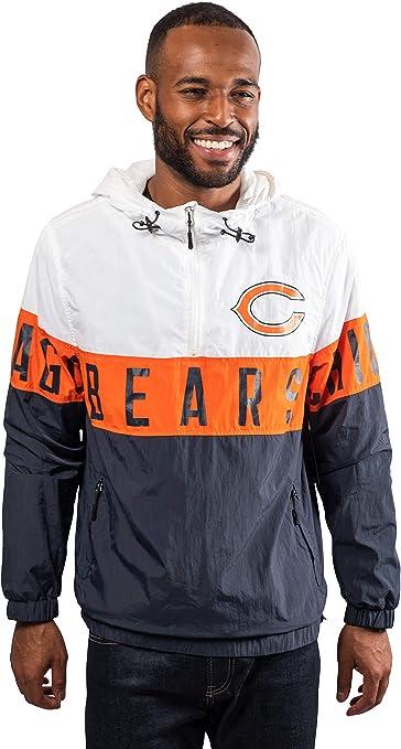 ICER Brands Womens Quarter Zip Pullover Hoodie Windbreaker Jacket Packable White Medium