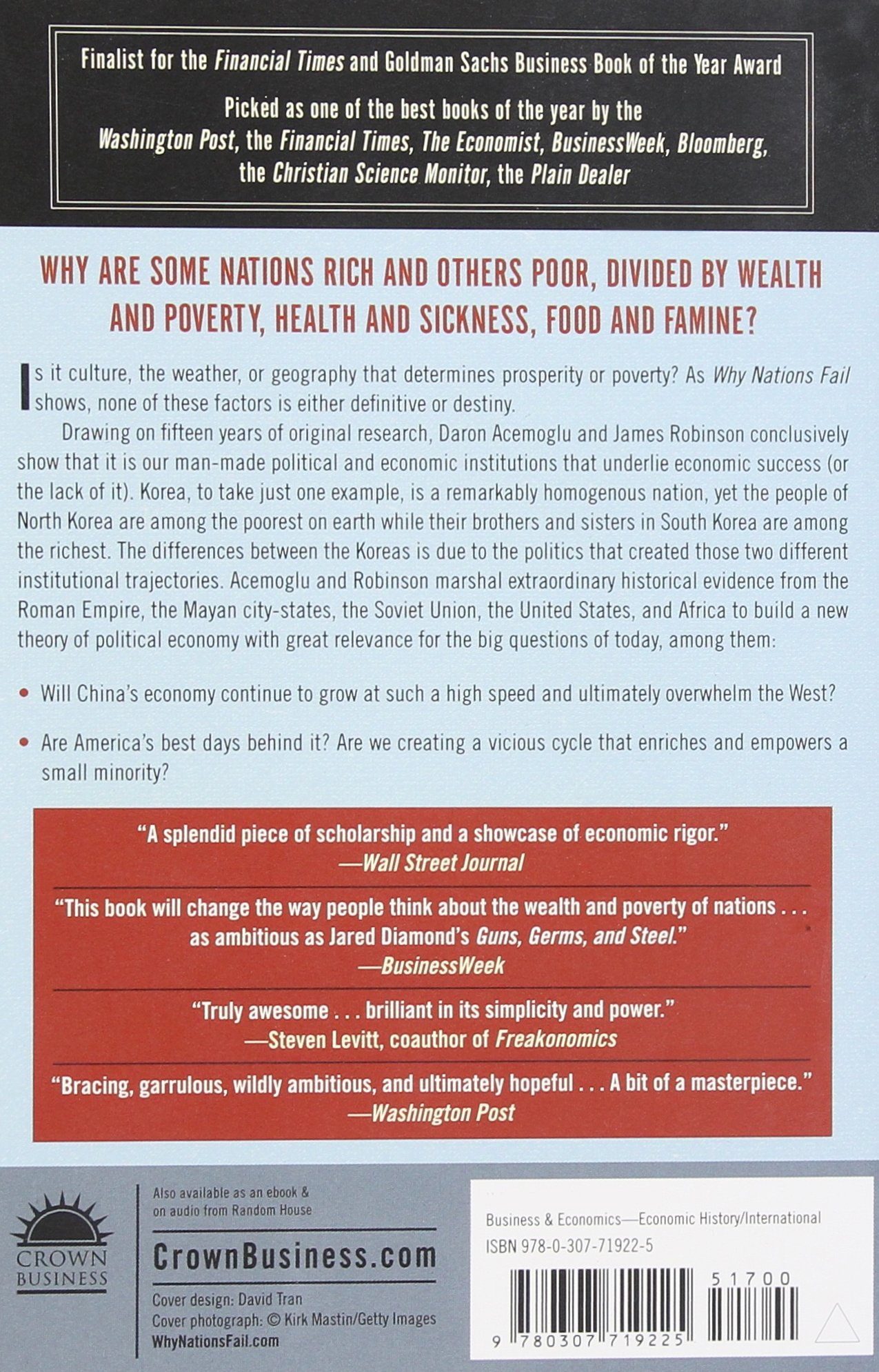 Why nations fail the origins of power prosperity and poverty why nations fail the origins of power prosperity and poverty livros na amazon brasil 9780307719225 fandeluxe Gallery