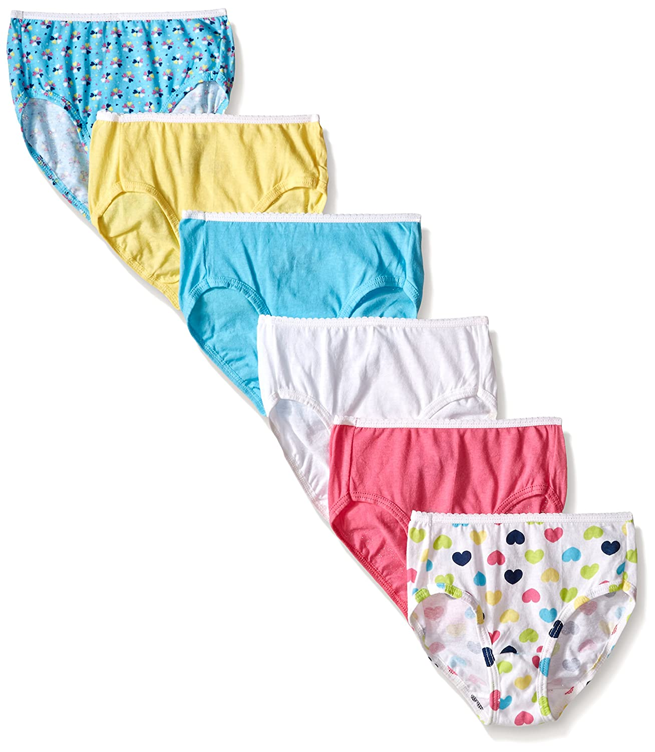Hanes Girls Toddler Girls Toddler 6-Pack Brief Hanes Girls 7-16 Underwear TP30AS