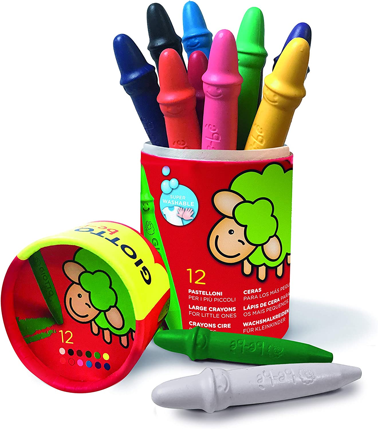 Giotto Beb/è 472100 Wax Crayons Assorted Colours