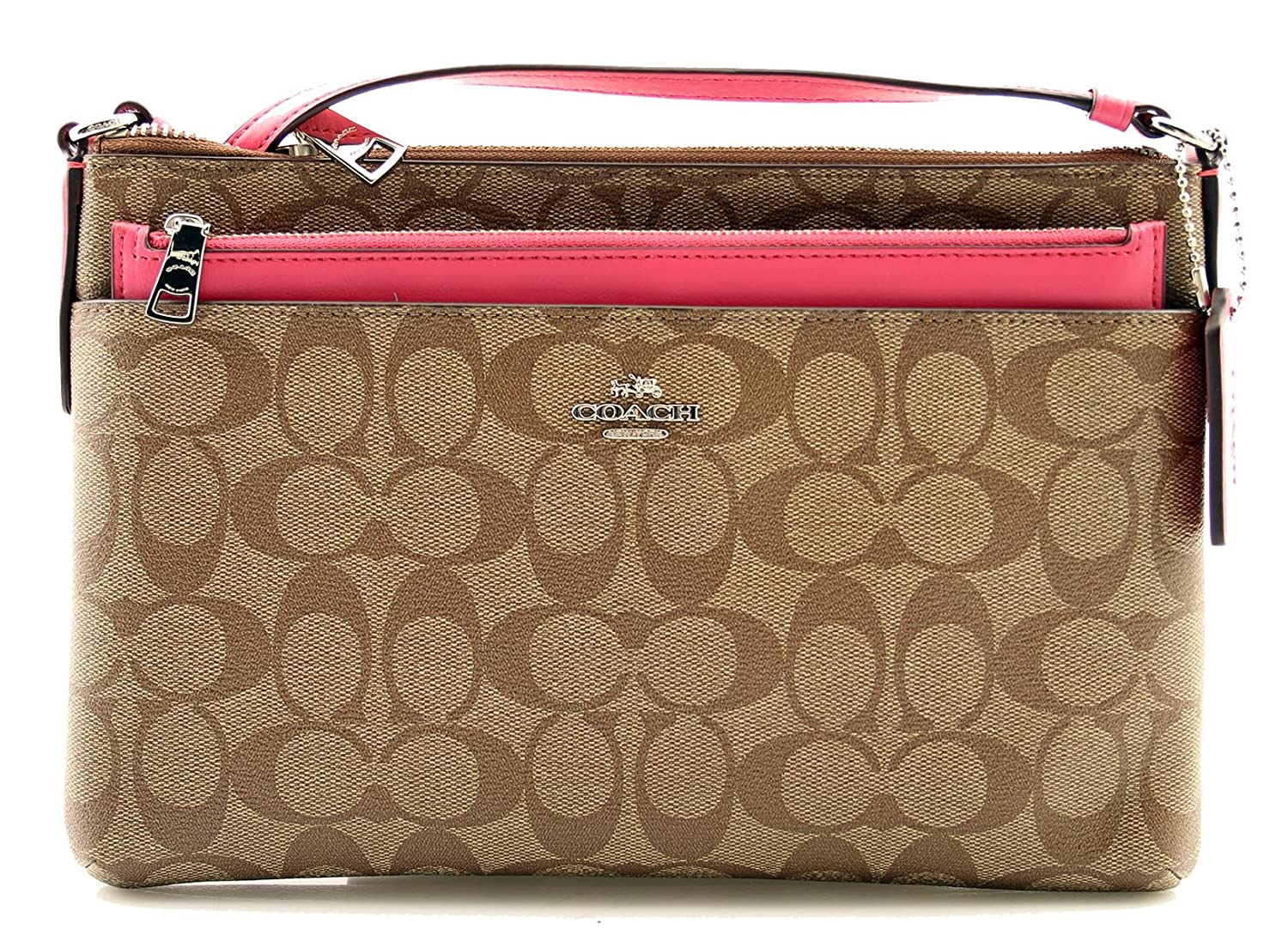 5c0fded392f6 COACH EAST WEST CROSSBODY WITH POP-UP POUCH (F58316)  Handbags  Amazon.com