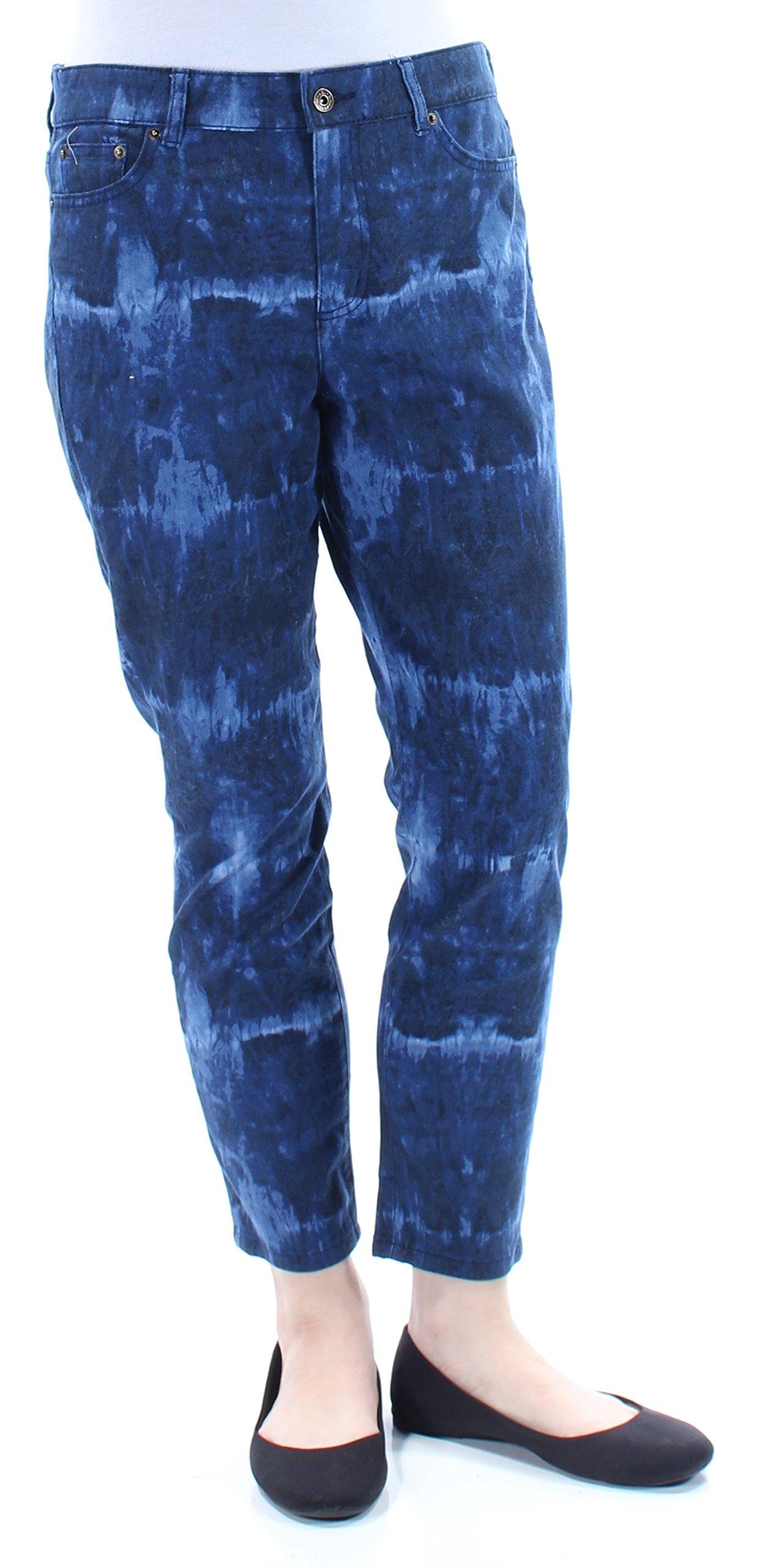 Lauren Ralph Lauren Womens Slimming Fit Crop Skinny Jeans Blue 10