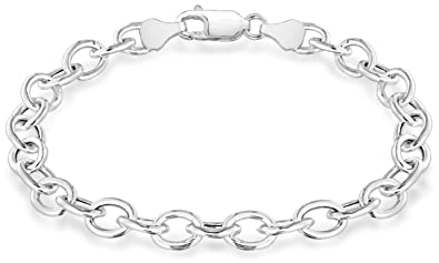 Tuscany Charms Silver Plain Leather Bracelet t7hxHTto