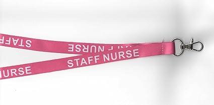 1 rosa Personal Enfermera Correa para el cuello de retención de seguridad Correa: Amazon.es: Oficina y papelería